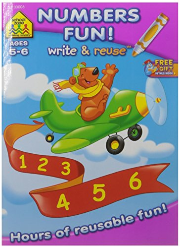School Zone Write & Reuse Workbook-Math Fun Ages ()