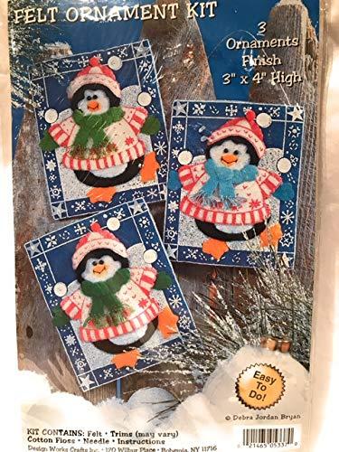 Design Works クリスマスホリデー フェルトツリーオーナメントキット 雪だるま3つ   B07L7KFD2F