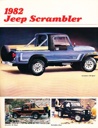 Original Dealer Brochure - 1982 Jeep Scrambler Truck Original Dealer Sales Brochure