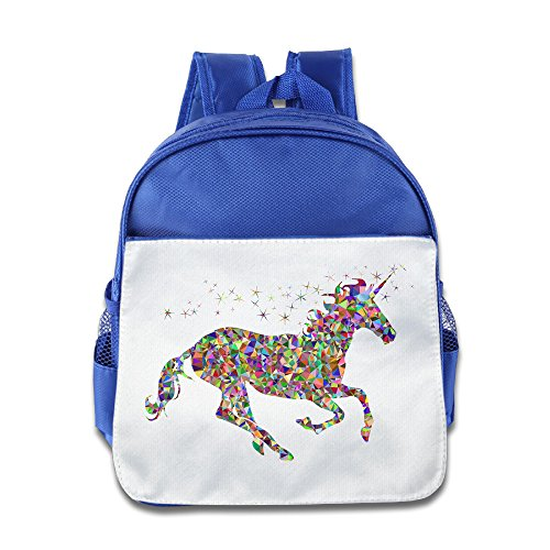 Price comparison product image OurLove Unicorn Rainbow Boy Bookbag Backpack School Size Size Key RoyalBlue