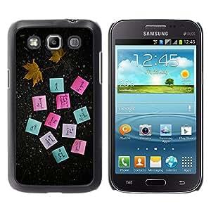 LECELL--Funda protectora / Cubierta / Piel For Samsung Galaxy Win I8550 -- MOTIVACIÓN POSTE NOTAS --