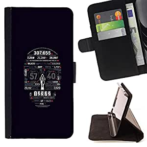 For HTC Desire 820 Skull Numbers Death Time Skeleton Art Style PU Leather Case Wallet Flip Stand Flap Closure Cover