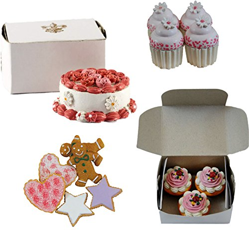 The Queen's Treasures American Bakery Collection Party Set. Collection Includes Cookies, Mini Cupcakes, Muffins, and a Party Cake. All Food Accessories Sized to Fit 18 Inch Girl Dolls. ()