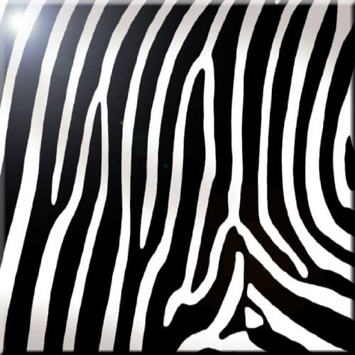 Rikki Knight Giraffe Print Design Art Ceramic Tile 4 by 4-Inch