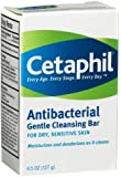 Cetaphil Antibacterial Gentle Cleansing Bar for Dry/Sensitive Skin 4.50 oz