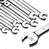 12pc 8-19mm Metric Flexible Head Ratcheting Wrench