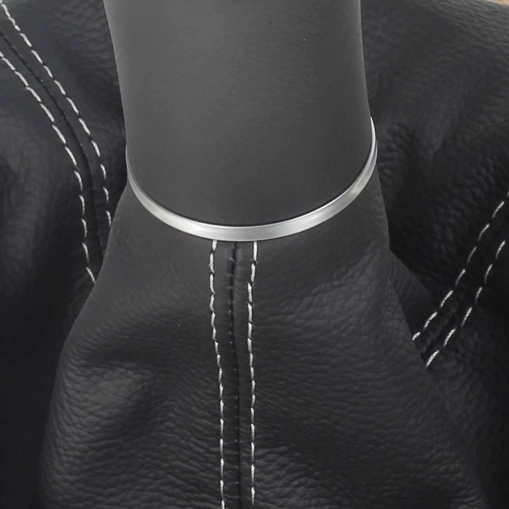 Naht silber Original ICT Schaltknauf Schalthebel Schaltsack//Schaltmanschette in schwarz 100/% Echtleder 6 gang mit Rahmen Komplettset Ersatzteil Made in Germany