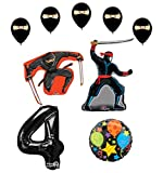 Mayflower Products Ninja 4th Birthday Party Supplies and Balloon Decorations