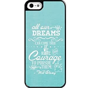 Dreams Walt Disney Quote iPhone 5 case - Custom Personalized Black Hard Plastic iphone 5/5s case