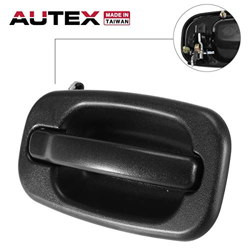 Top AUTEX 80577 Exterior Door Handle Front Right Passenger Side RH Compatible with 1999 2000 2001 2002 2003 2004 2005 2006 2007 Chevrolet Avalanche Silverado Suburban Tahoe GMC Sierra Yukon GM1311147 for sale