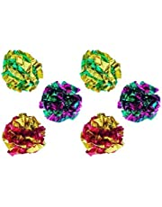 PetFavorites Mylar Crinkle Balls Cat Toys Interactive Crinkle Cat Toy Balls Independent Pet Kitten Cat Toys for Fat Cats Kittens Exercise, Soft, Light and Right Size (6 Pack)