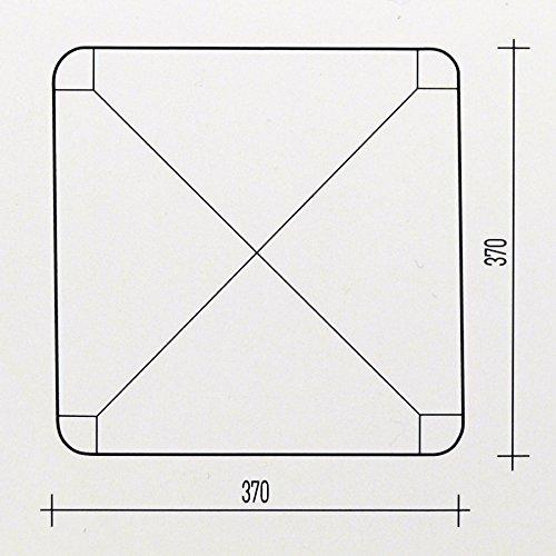MOD. 901 WA ArredaS/ì Sedute in Paglia quadrate 37x37 Set di Due + Feltrini in Omaggio