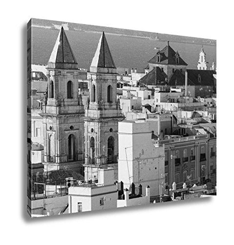 Ashley Canvas San Antonio Church In Cadiz Cadiz Andalusia Spain, Kitchen Bedroom Living Room Art, Black/White 24x30, AG6515449 by Ashley Canvas