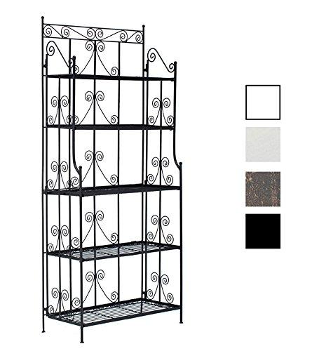 CLP Eisenregal CIARA, extra stabiles Metall-Standregal, 170 x 75 x 35 cm, klappbar (aus bis zu 4 Farben wählen) schwarz