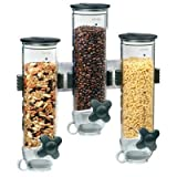 dry food dispenser triple - Zevro WM300 Wall Mount SmartSpace Dry Food Triple Dispenser