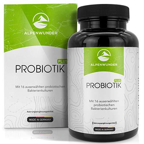 Alpenwunder Probiotik Kulturen, 100% MADE IN GERMANY, 180 Probiotika Darmsanierung Kapseln mit 18 Bakterienstämmen, 100% Vegan, hergestellt gemäß DIN EN ISO 9001