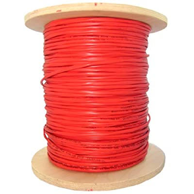 1000Ft Bulk Plenum Zipcord Fiber Optic Cable, Multimode, Duplex, 62.5/125, Orange, Spool