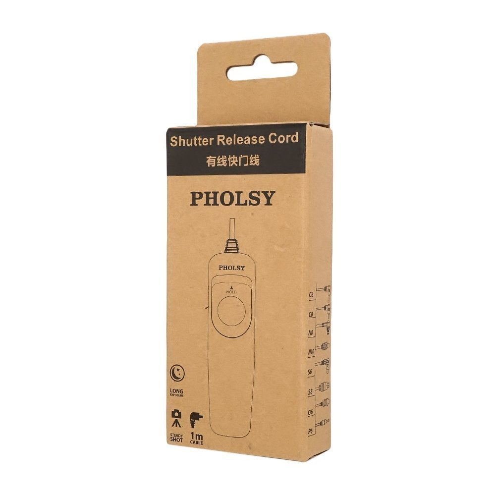 Reemplazar Cable de Control Remoto Nikon MC-DC2 PHOLSY Cable Disparador Remoto N10 Mando a Distancia para Nikon C/ámaras