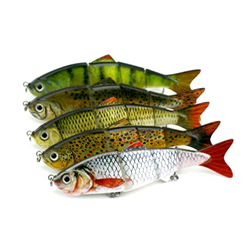 Isafish swimbaits for bass crankbait bionic multi jointed for Amazon fishing spinners