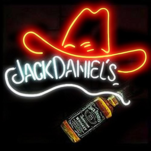 Jack Daniels Bottle and Hat Beer Bar Pub Store Party Homeroom Decor 19x15