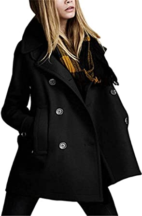 Gabardina Mujer Largos Otono Invierno Ropa Tallas Grandes Abrigo De Transicion Negro Elegante Manga Largo Casuales Moda Chaqueta Abrigos Prendas Exteriores Amazon Es Ropa Y Accesorios