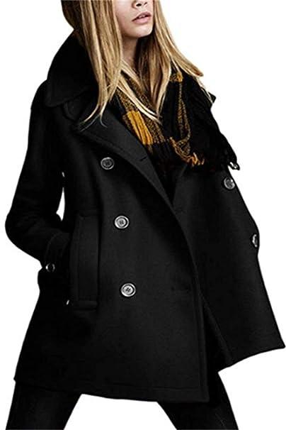 Donna Cappotto Taglie Forti Autunno Invernali Fashion