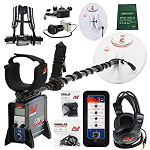 """Minelab GPX 5000 Metal Detector with 2 coils - 11"""" Round DD and 15x12 Mono Search Coil"""