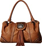 Blazin Roxx Women's Ella Style Faux Calf Hair Shoulder Bag, Brown, OS