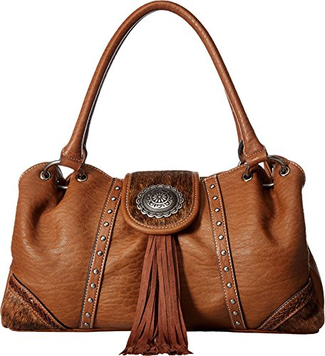 Blazin Roxx Women's Ella Style Faux Calf Hair Shoulder Bag, Brown, OS by Blazin Roxx