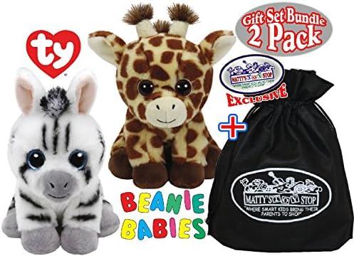 Amazon.com  TY Beanie Babies Peaches (Giraffe)   Stripes (Zebra) Gift Set  Bundle with Bonus