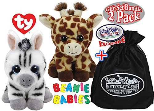 4382ceef1d5 TY Beanie Babies Peaches   Stripes Gift Set Bundle with Bo