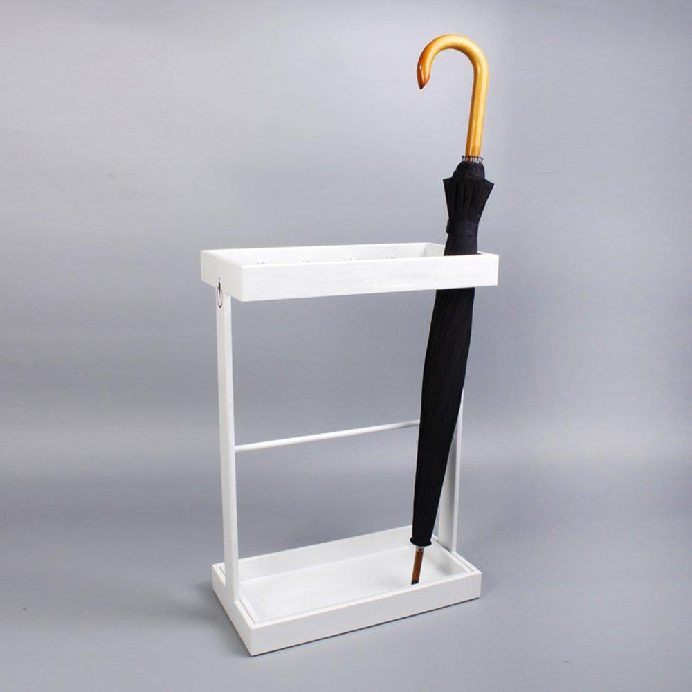 QFFL yusanjia アンブレラスタンド/アイアン/傘収納棚/ホテルヨーロッパ傘収納棚(42 * 21.5 * 60cm)(2色展開) 屋外傘立て ( 色 : 白 ) B07C1DQB3Y 白 白