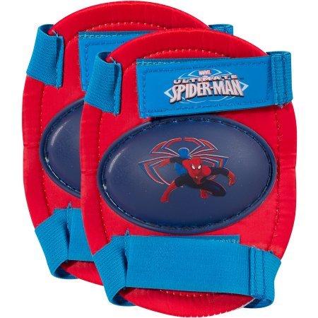 Marvel Marvel Spider-Man Kid's Rollerskates with Knee Pads, Junior Size 6-12
