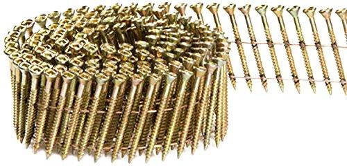 (Fasco SCWC713FVEG Scrail Fastener  Fine Thread 15-Degree Wire Coil Electro-Galvanized Versa Drive, 2.25-Inch x .113-Inch 2000 Per Box)