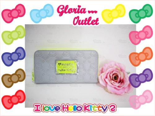 Hello Kitty Neon Yellow Splash Embossed Wallet Loungefly SANWA0552 ()