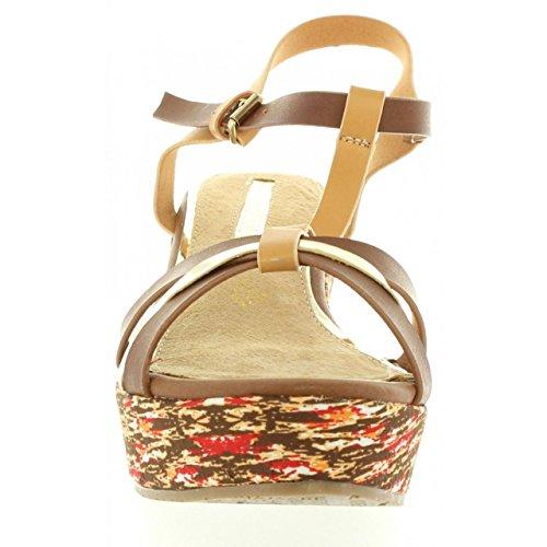 MARIA MARE Zapatos de Cuña de Mujer 66200 Buffalo Beige