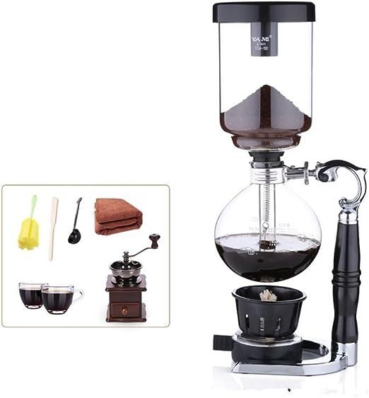 Cafetera de sifón Manual Home sifón kit maker Cristalería Cafetera CafeteraYo,: Amazon.es: Hogar