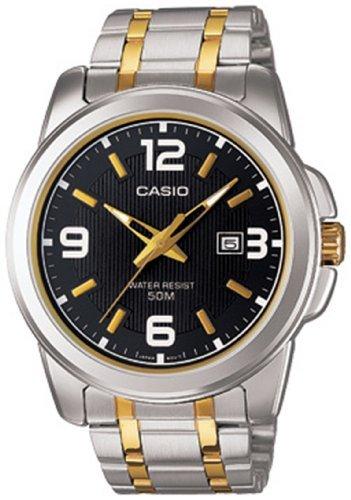 Casio Gents Watches - CASIO MTP-1314SG-1AV Men's Enticer Gents (Black/Gold) Stainless Steel Analog Quartz Watch
