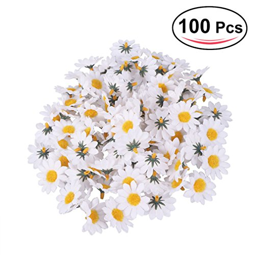 Windse 100Pcs Artificial Gerbera Daisy Flowers Heads DIY Cake/Wedding Decoration Artificial Flowers Craft