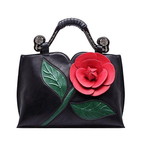 Realer Designer Clutch Purses Wallet Large Leather Handbag with Handle for Women Black