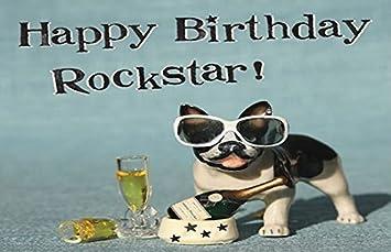 Mini Kühlschrank Rockstar : Amazon.de: happy birthday rockstar fun kühlschrank magnet