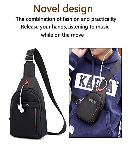 Backpack Bag Sling Cloth Grey Travel Men For Hiking Daypack Mingmo Lightweight Oxford Triangle Shoulder Women Packs Chest Crossbody d5Icc7wgSq