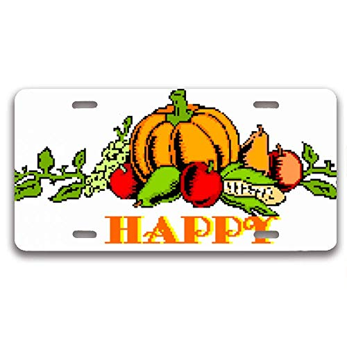 Customized License Plate Frame, Car Tag Frame License Plate Cover Holder, Auto Car Truck for US Standard and Screws (Free Thanksgiving Clip Art)