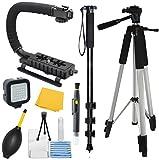 Adventurers Professional Exploration Kit For Canon EOS 400D (EOS Digital Rebel XTi / EOS Kiss Digital X), Bundle Contains: 72