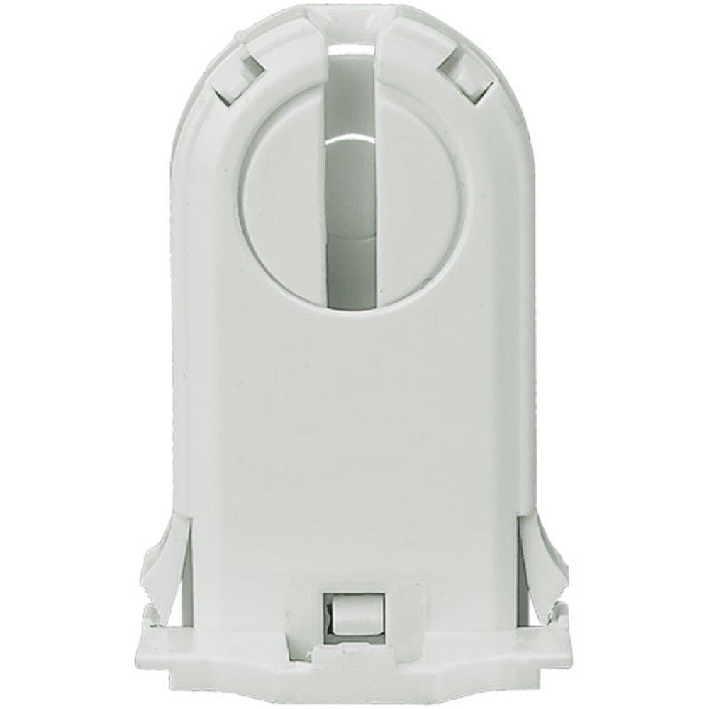 Leviton 23660-SNP Fluorescent Lampholder, Medium Bi-Pin, Snap-In, White
