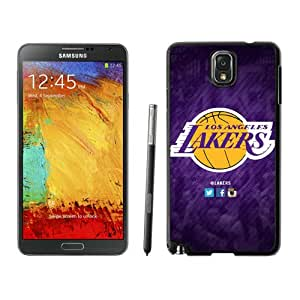 Fashionable Antiskid Cover Case For Samsung Galaxy Note 3 N900A N900V N900P N900T With LA lakers 6 Black Phone Case