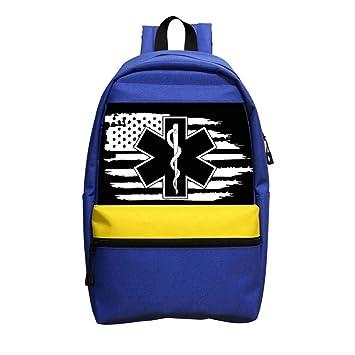 Amazon.com   B1TS Cool Police   Firefighter   EMT Flag Backpack School Bags  Kids Boys Girls Students Handbags Travel bag   Kids  Backpacks 9a042dad6b