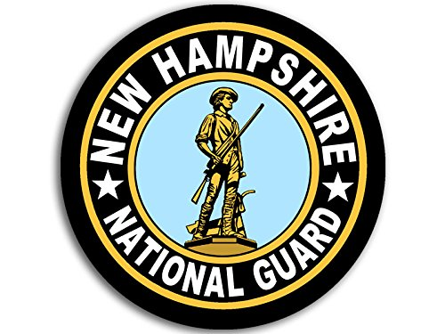 American Vinyl Round New Hampshire National Guard Seal Sticker (Logo Insignia Army) (Guard National New Hampshire)