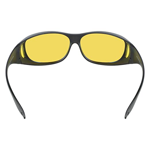 6d1fef68cd9 Amazon.com  Anti Glare Night Vision Driving Glasses Wraparounds - Polarized  - With HD Night Vision Technology And Anti Glare - For Best Clear Night  Sight ...
