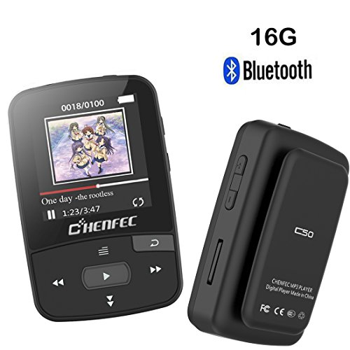 ChenFec Bluetooth MP3 Player with Clip 16GB with Sports Music Player...